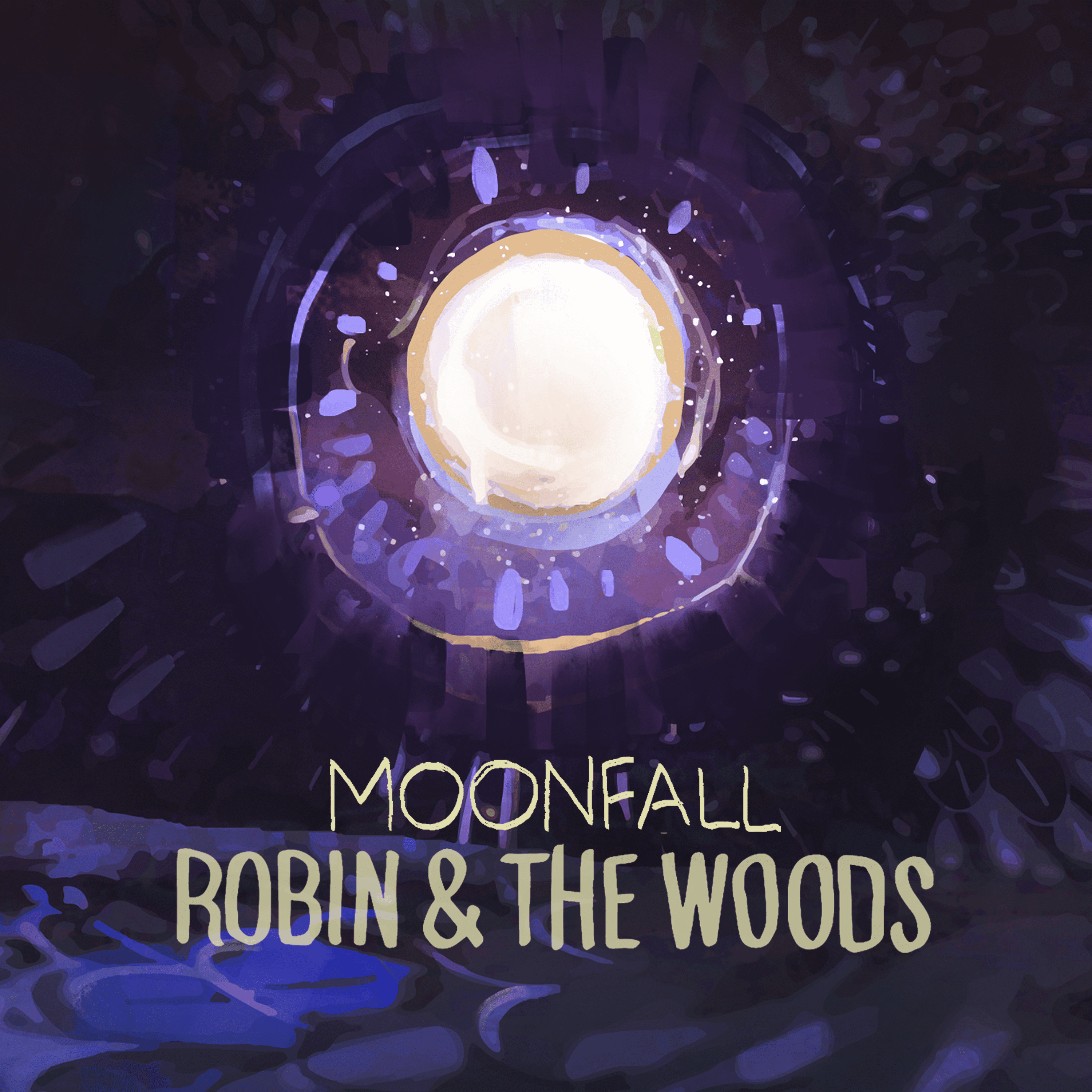 Cover album moonfall Robin & The Woods 1